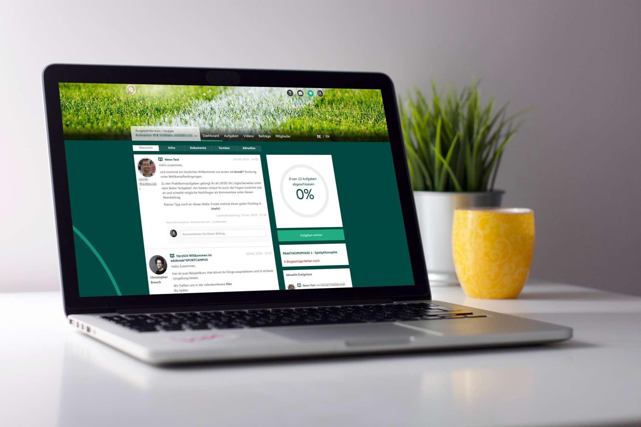 DFB Onlinecampus im edubreak®SPORTCAMPUS